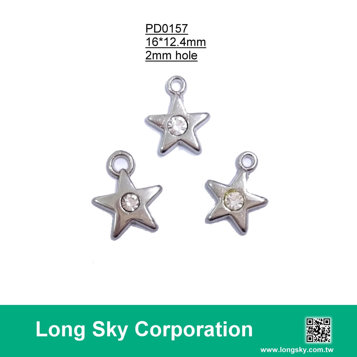 (#PD0157) crystal rhinestone added metal star charms for dress decoration