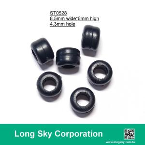 (#ST0528) 4mm hole plastic bead as cord stopper