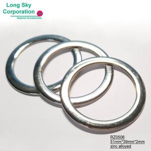 (RZ0506/39mm) 4cm inner zinc alloyed metal circle belt trimming ring buckle