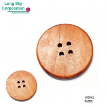 (#W0942) decorative flat top wooden garment button