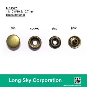 (#MB1547-110/11mm cap) brass material press snap button