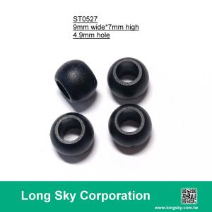 (#ST0527) 5mm hole plastic cord end bead