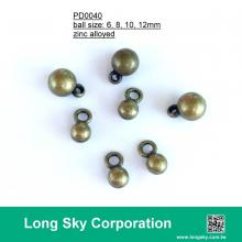 (#PD0040) 6mm to 12mm metal round ball charms for trimming, chain belt