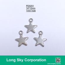 (#PD0251) 12mm metal star charms for craft decoration