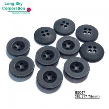 (#B5047-28L) Classic design heat-resistant round plastic four hole sewing uniform button