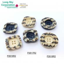 (#P2616R2~P2618R2) special stone effect polyester resin designer coat button
